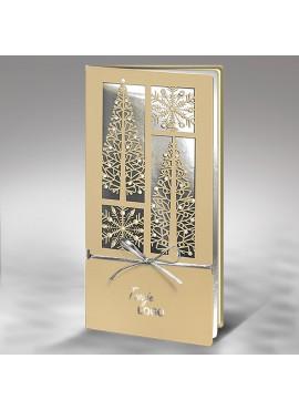 Kartka Świąteczna ze Wzorem Wyciętym Laserowo FS719pk
