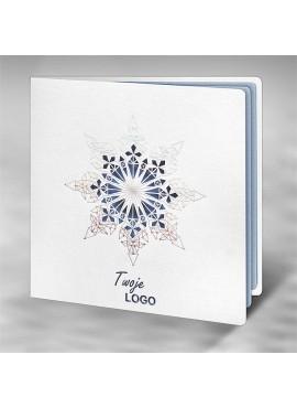 Kartka Świąteczna z Motywem Śnieżynki FS728tb