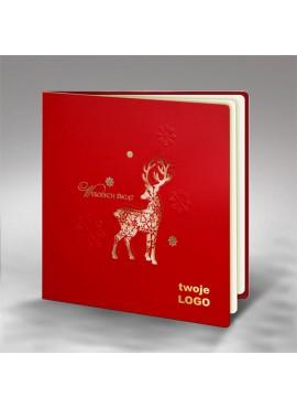 Kartka Świąteczna z Sylwetką Renifera FS595cg