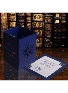 Kartka Świąteczna w Postaci Lampionu ze Śnieżynkami FS616i