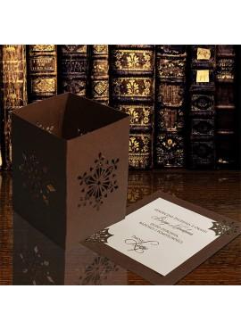 Kartka Świąteczna w Postaci Lampionu ze Śnieżynkami FS616hb
