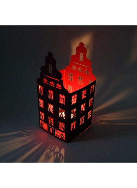 Kartka Świąteczna jako Lampion w Postaci Domu FS617bg