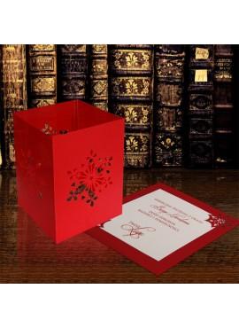 Kartka Świąteczna w Postaci Lampionu ze Śnieżynkami FS616ck