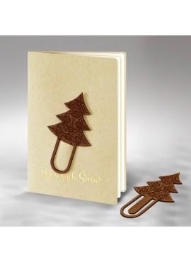 Kartka Świąteczna z Drewnianą Aplikacją FS577