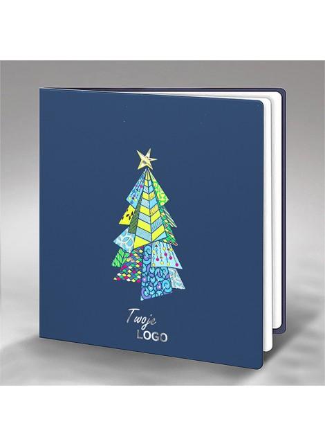 Kartka Świąteczna z Choinką w Żywych Barwach FS640ng