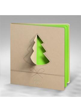 Kartka Świąteczna z Choinką FS699p