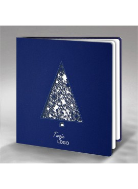 Kartka Świąteczna Choinka ze Śnieżynkami FS696nk