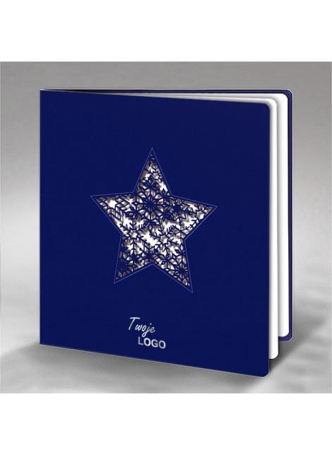 Kartka Świąteczna Gwiazda ze Śnieżynkami FS697nk