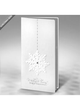 Kartka Świąteczna Śnieżynka z Kryształkiem FS567tb