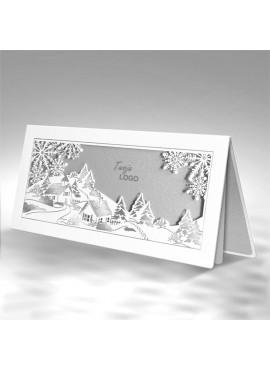 Kartka Świąteczna z Zimowym Pejzażem FS731