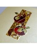 Kartka Świąteczna z Motywem Witrażu FS680p