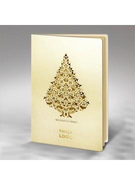 Kartka Świąteczna z Misternym Wycięciem Choinki FS714tz