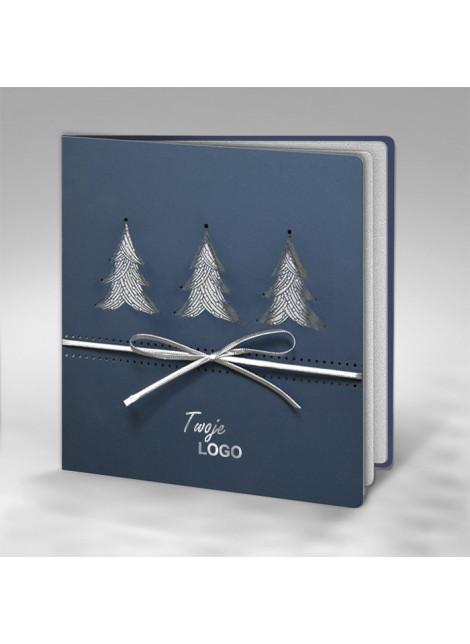 Kartka Świąteczna z Trzema Choinkami FS432lg