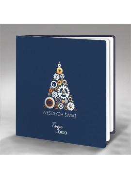 Kartka Świąteczna z Technicznym Motywem Choinki FS674ng