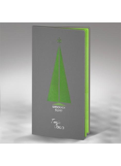 Kartka Świąteczna z Wyciętą Laserowo Choinką FS656s2