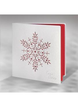 Kartka Świąteczna z Wzorem Wyciętym Laserowo FS703tb