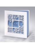 Kartka Świąteczna ze Śnieżynkami Wyciętymi Laserowo FS698tb-n