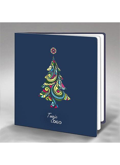 Kartka Świąteczna z Kolorową Choinką FS663ng