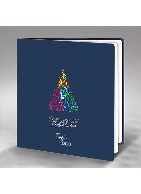 Kartka Świąteczna z Motywem Kolorowej Choinki FS662ng