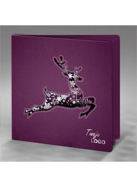 Kartka Świąteczna z Motywem Renifera Wyciętego Laserowo FS620kf