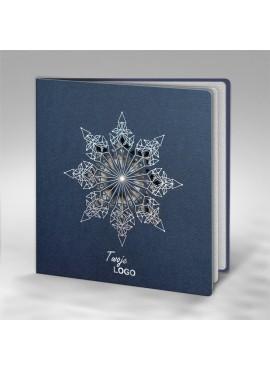 Kartka Świąteczna z Motywem Śnieżynki Wyciętej Laserowo FS728i