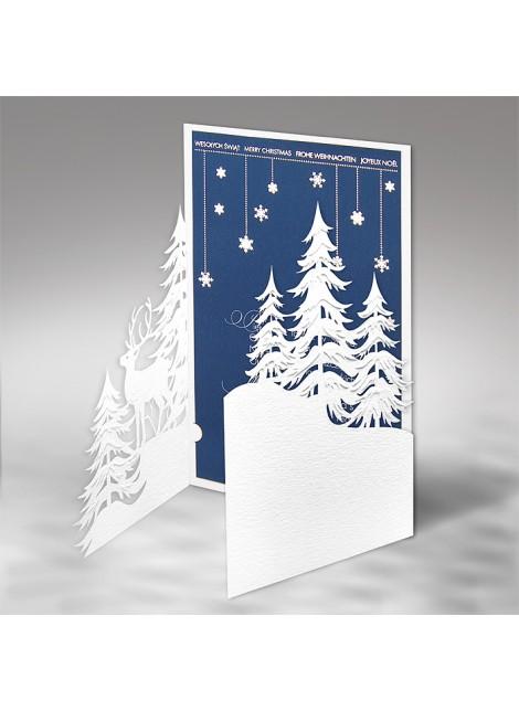 Kartka Świąteczna z Zimowym Krajobrazem FS613