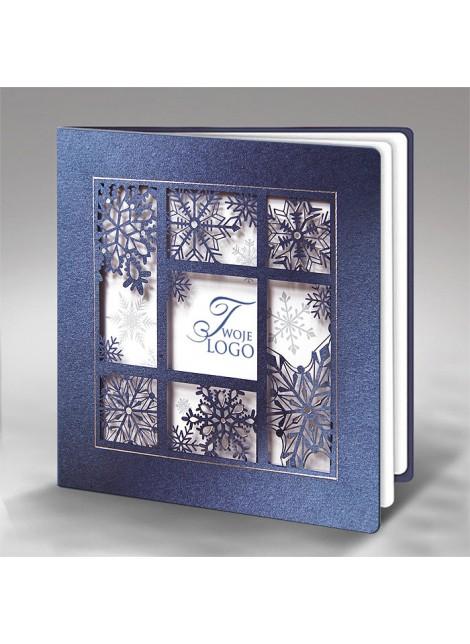 Kartka Świąteczna ze Śnieżynkami FS596gm