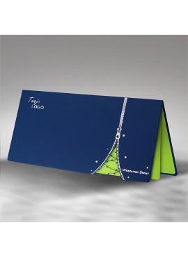 Kartka Świąteczna z Choinką w Formie Suwaka FS549ng