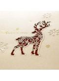 Kartka Świąteczna Sylwetka Renifera ze Śnieżkami FS595p-n