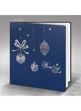 Kartka Świąteczna z Misternym Wzorem Bombek FS601ng