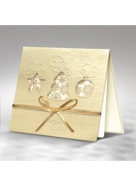 Kartka Świąteczna z Trzema Motywami Świątecznymi FS328