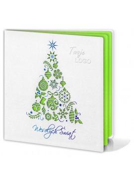 Kartka Świąteczna z Oryginalną Choinką FS232