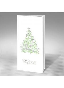 Kartka Świąteczna z Klasycznym Motywem Choinki FS521