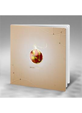 Kartka Świąteczna Kolorowa Bombka FS802