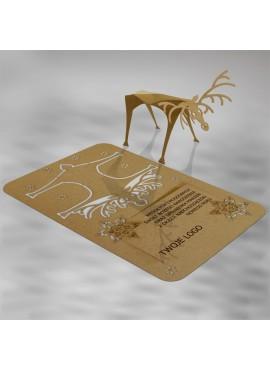 Kartka Świąteczna Renifer 3D FS559