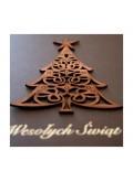 Kartka Świąteczna z Aplikacją Choinki Wyciętej z Drewna FS446