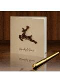 Kartka Świąteczna z Drewnianym Reniferem FS448
