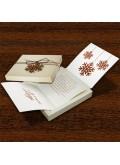 Kartka Świąteczna w Formie Pudełka z Drewnianą Śnieżynką FS499