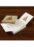 Kartka Świąteczna w Formie Pudełka z Przyklejoną Choinką FS500