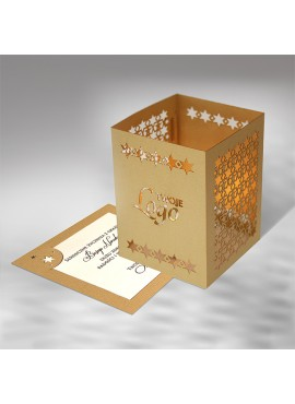 Kartka Świąteczna w Postaci Lampionu w Gwiazdy FS496sz