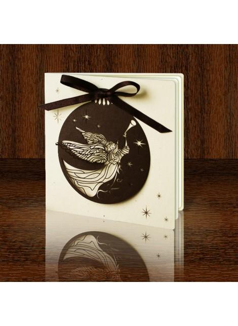 Kartka Świąteczna Bombka z Aniołem FS486