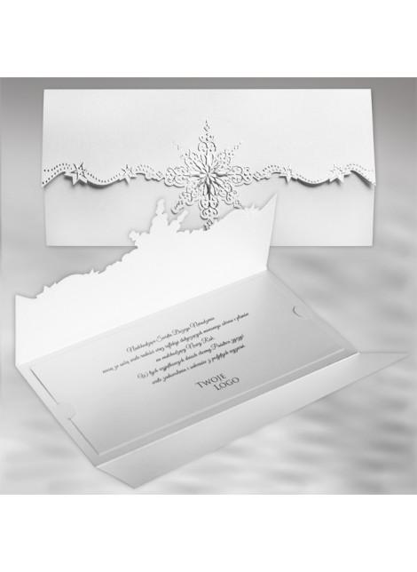 Kartka Świąteczna z Oryginalnym Motywem Śnieżynki FS487tb