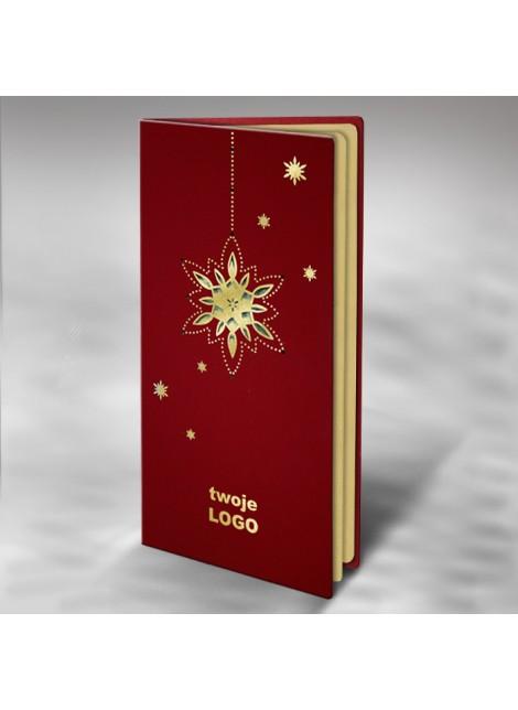 Kartka Świąteczna ze Złoconą Gwiazdą FS511bg