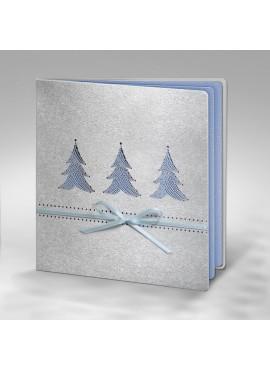 Kartka Świąteczna z Trzema Choinkami Wyciętymi Laserowo FS432s1