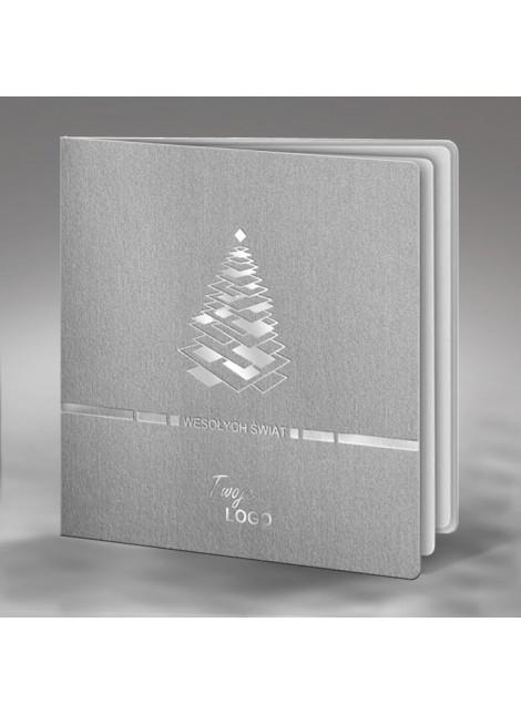 Kartka Świąteczna z Oryginalnie Wykonaną Choinką FS422s