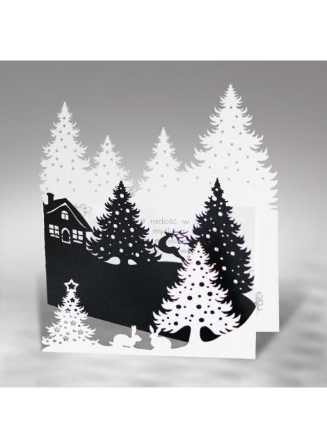 Kartka Świąteczna z Wyciętym Motywem Świątecznym FS476ab