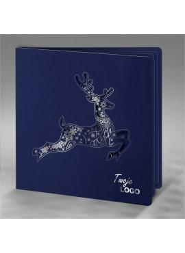 Kartka Świąteczna z Reniferem Wyciętym Laserowo FS620ng