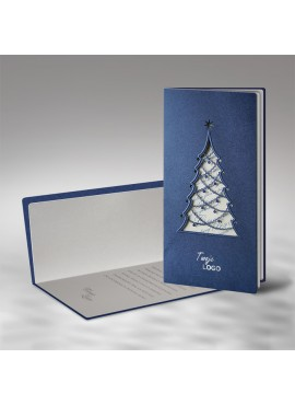 Kartka Świąteczna z Oryginalną Choinką Wyciętą Laserowo FS480i
