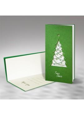 Kartka Świąteczna z Oryginalną Choinką Wyciętą Laserowo FS480z