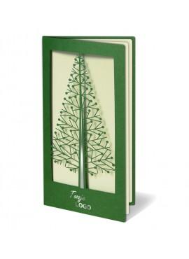 Kartka Świąteczna z Oryginalnie Wyciętą Choinką FS250
